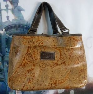 Brown and tan relic purse